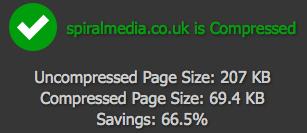 Spiral Media - Website compression results