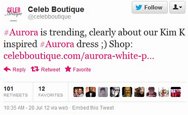 Aurora Dress Tweet Fail