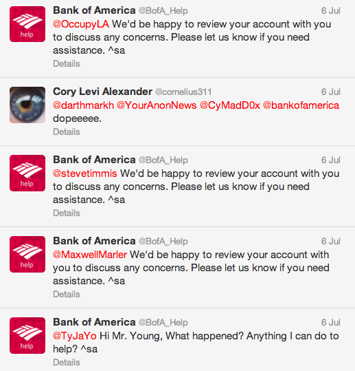 Bank Of America Automation Fail