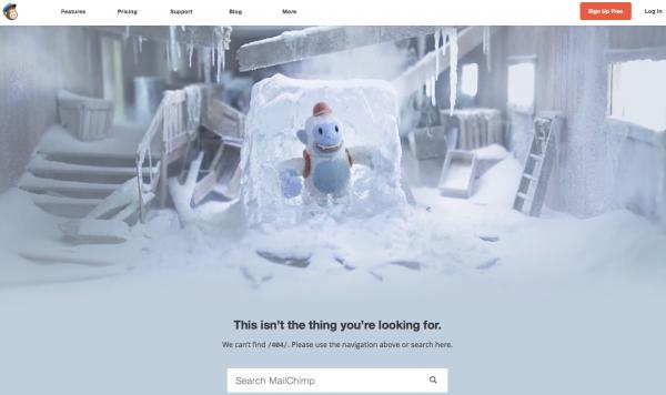 Mailchimp 404 Error Page
