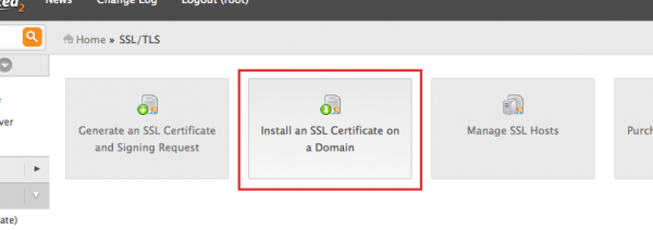 WHM Install an SSL on domain