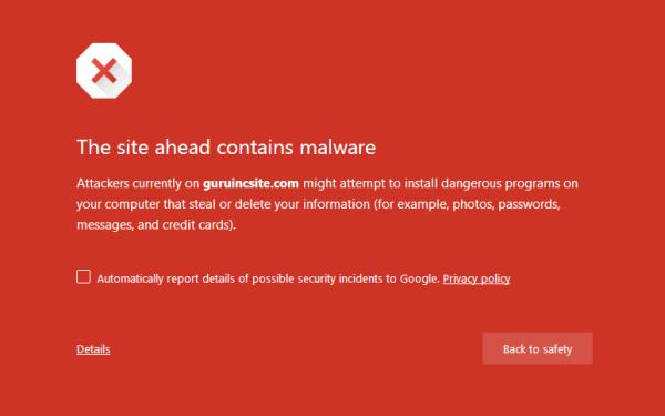 Magento guruincsite Neutrino Malware Alert