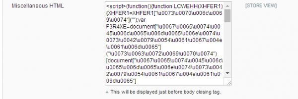 Magento Guruincsite Neutrino Malware Code